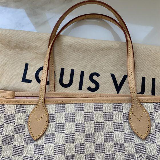 Louis Vuitton Damier Azur Neverfull GM Rose Ballerine