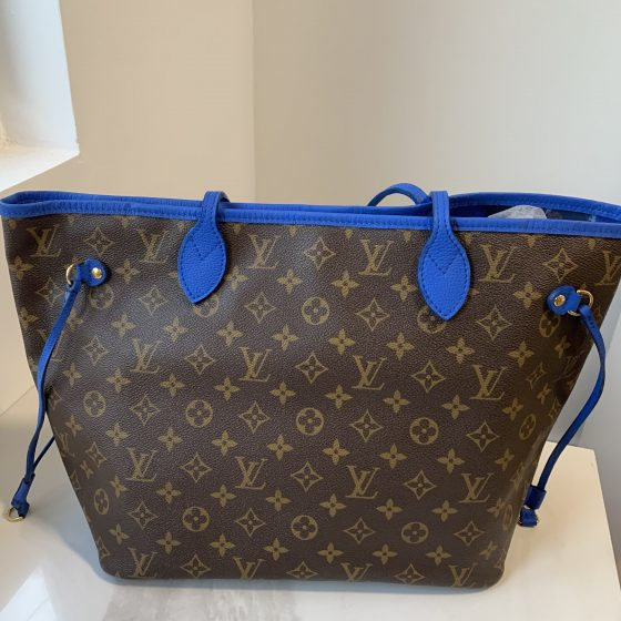 Louis Vuitton Monogram Ikat Neverfull MM Grand Bleu