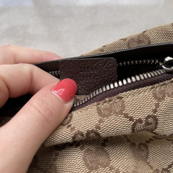 Gucci Monogram Canvas Belt Bag Brown