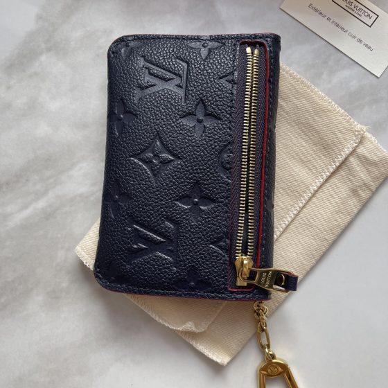 Louis Vuitton Empreinte Key Pouch Marine Rouge