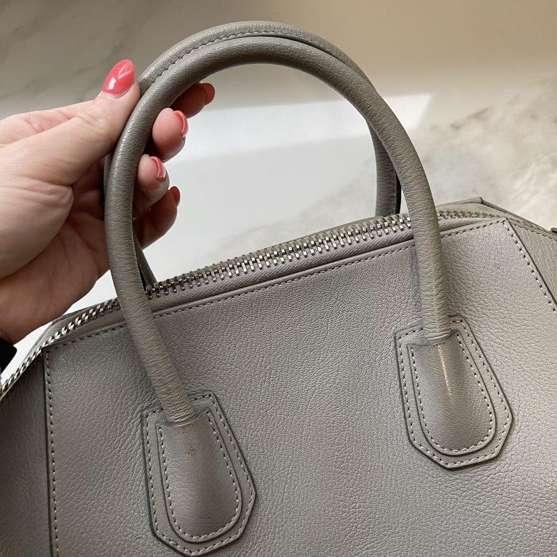 Givenchy Sugar Goatskin Small Antigona Pearl Grey
