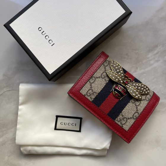 Gucci Queen Margaret GG Supreme Card Case