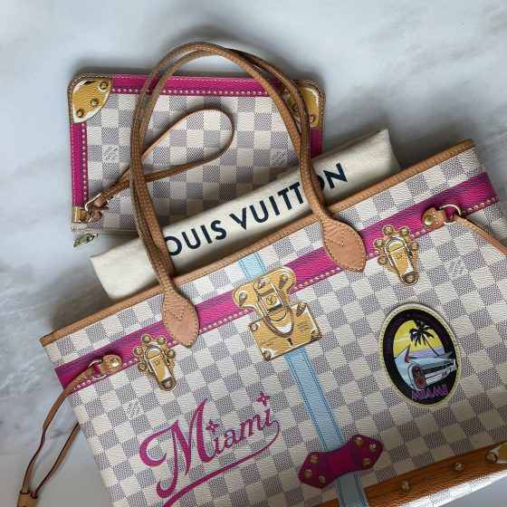 Louis Vuitton Damier Azur Summer Trunks Miami Neo Neverfull MM
