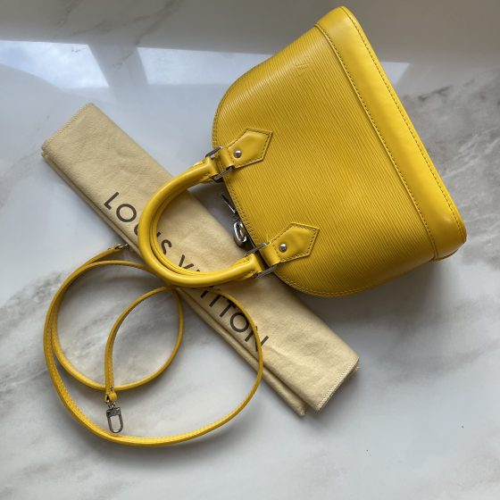 Louis Vuitton Epi Alma BB Citron