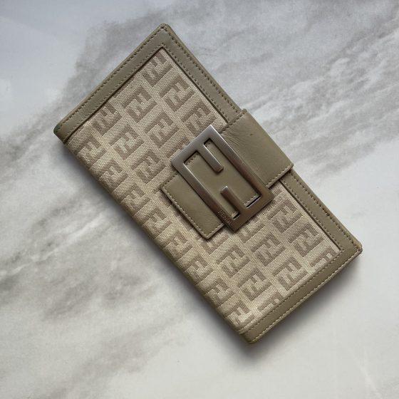 Fendi Zucca Pattern Wallet Blush