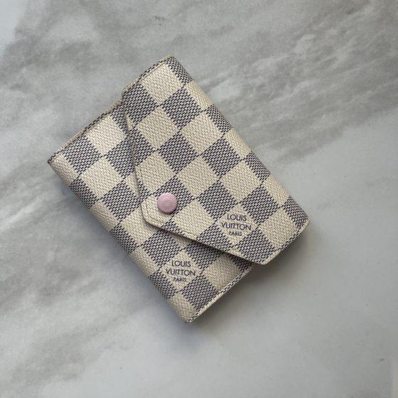 Louis Vuitton Damier Azur Victorine Wallet Rose Ballerine