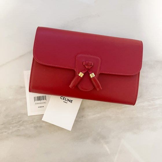 Celine Red Wallet on Chain