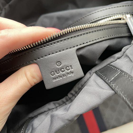 Gucci Drawstring Backpack Supreme Canvas Black