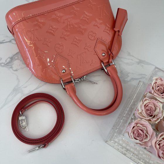 Louis Vuitton Monogram Vernis Alma BB Pink