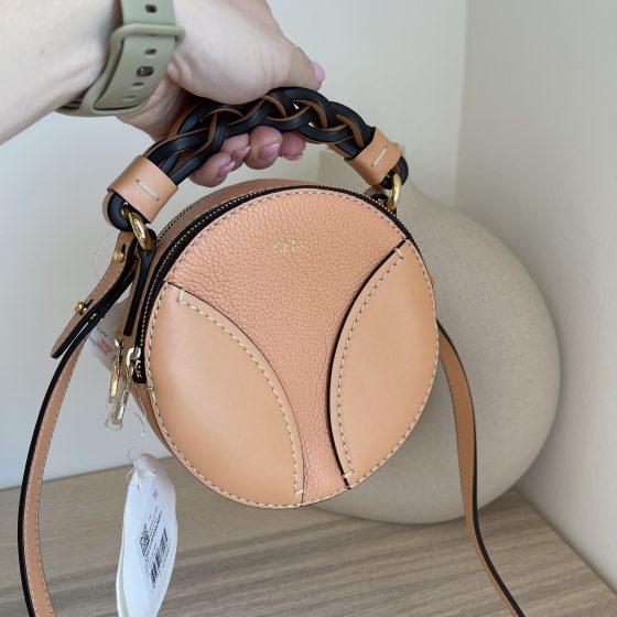 Chloe Mini Daria Round Bag Peach