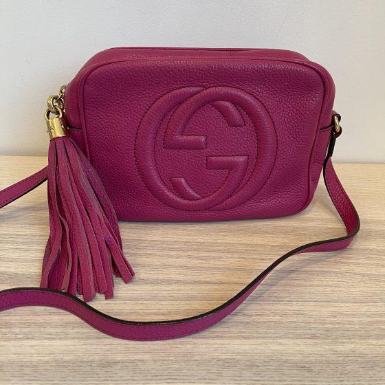 Gucci Calfskin Small Soho Disco Bag Pink