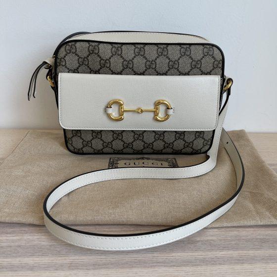 Gucci Horsebit 1955 Small Bag Beige and Ebony