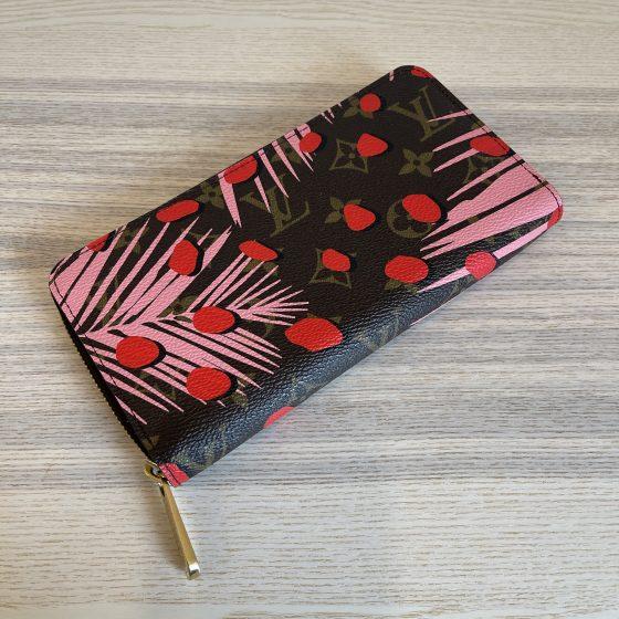 Louis Vuitton Monogram Jungle Dots Zippy Wallet Sugar Pink Poppy