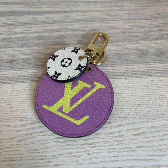 Louis Vuitton Monogram Giant Bag Charm Key Holder Pink Lilac