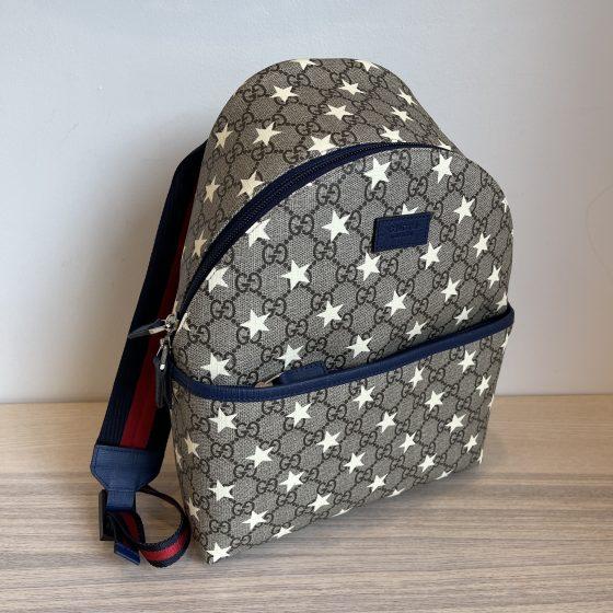 Gucci Kids GG Supreme Stars Print Backpack