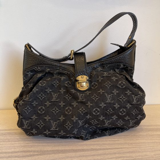 Louis Vuitton Black Monogram Denim Mahina Extra Small